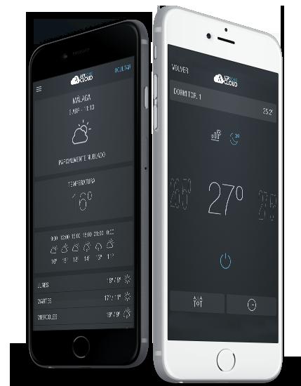 Interfaz Airzone Cloud para móviles