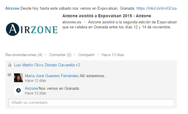 Airzone en Linkedin