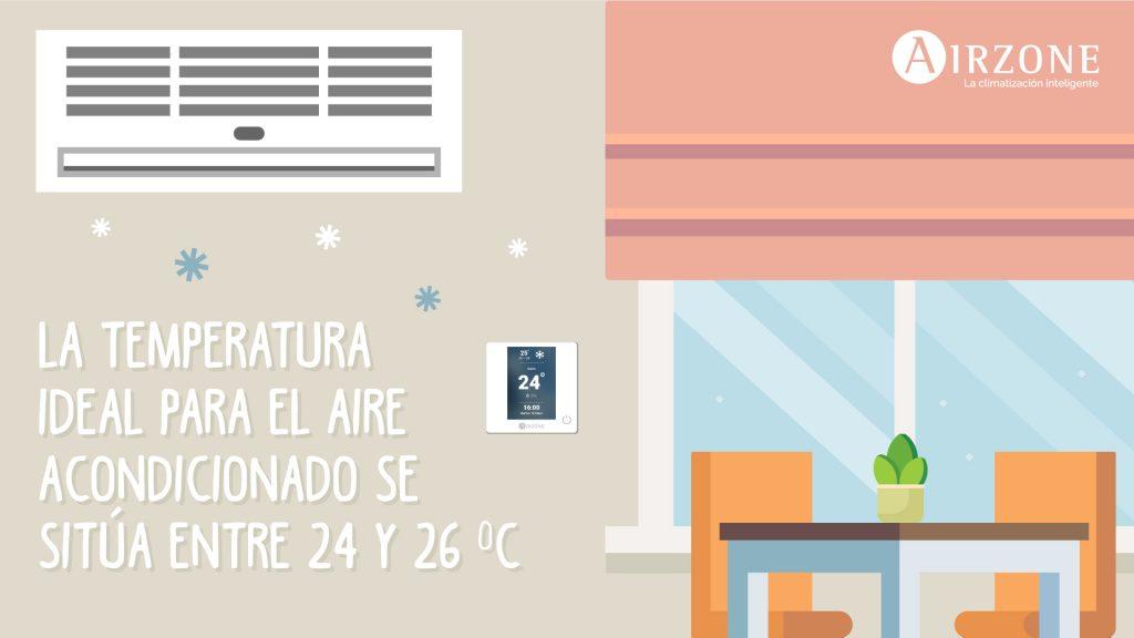 temperatura ideal para el aire acondicionado en verano