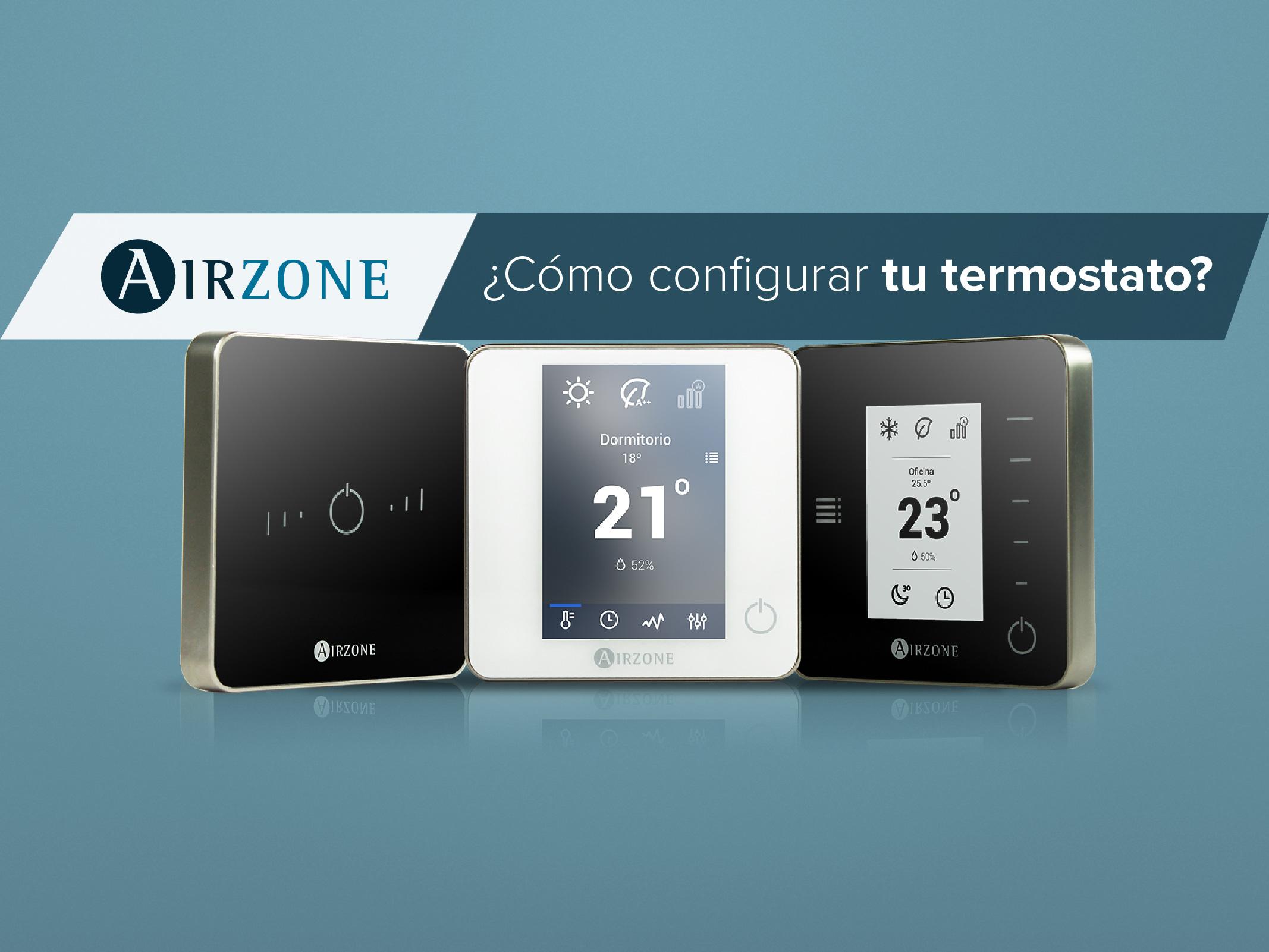 realizar la configuracion inicial de los termostatos airzone