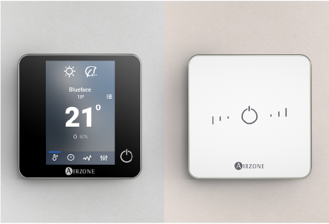 Interfaces de control Airzone Blueface y Airzone Lite