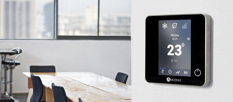 Control del aire acondicionado en la oficina