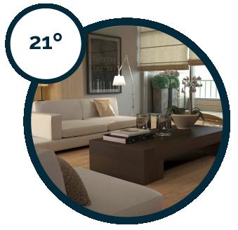 Temperaturas independientes - Salón