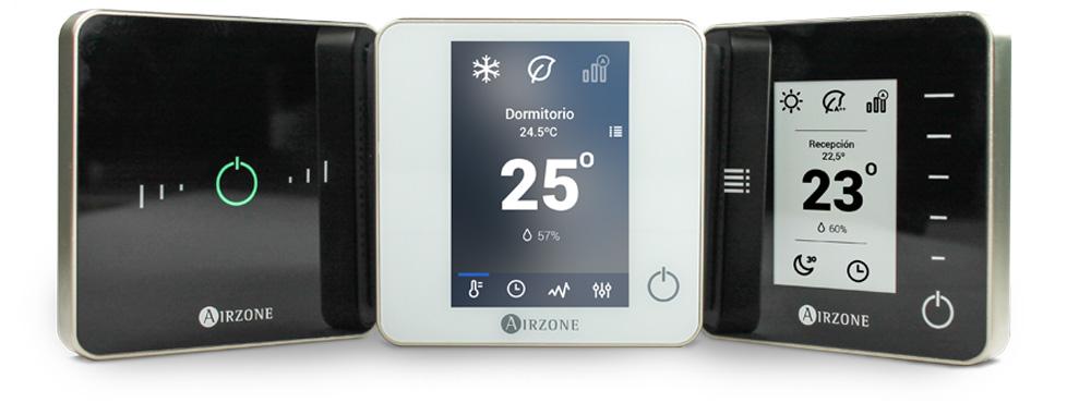 Nuevos termostatos visión frontal