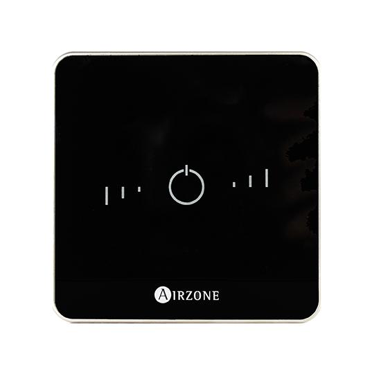 Termostato Airzone Lite en negro - Vista frontal